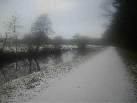 Le Canal de Nantes à Brest sous la neige (2009)
