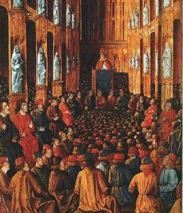 Concile de Clermont - Pape Urbain II lançant la première croisade