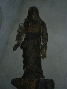 Statue en bois ND de Grace